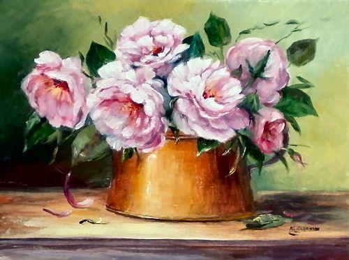 Peinture L Huile Rose Fushia 18